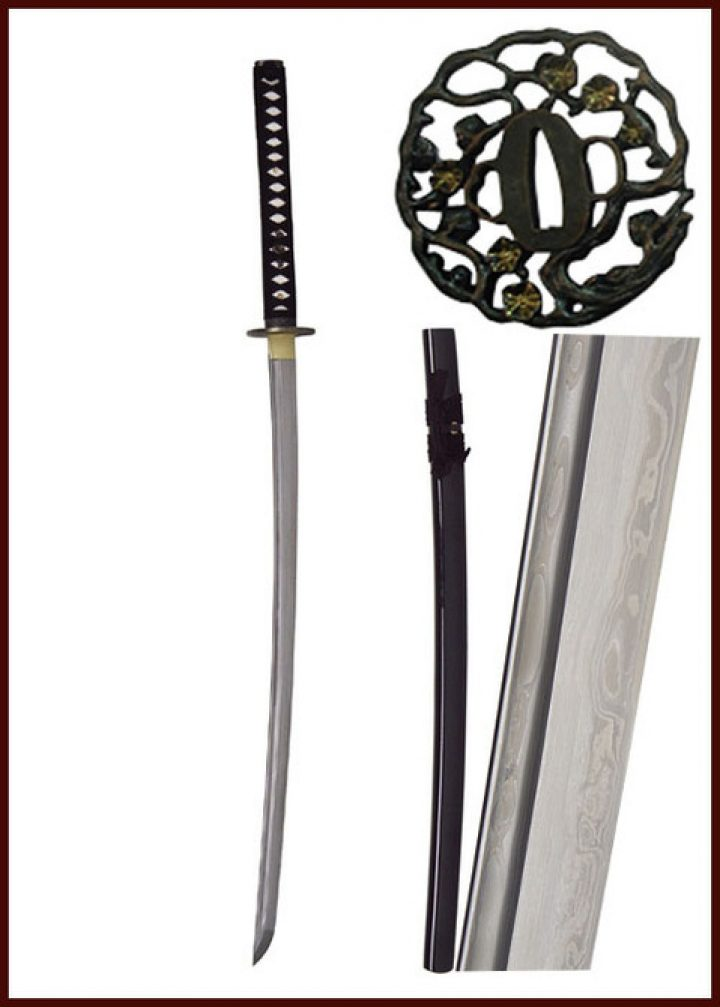 John Lee Golden Flower Katana Damast HSD-85711