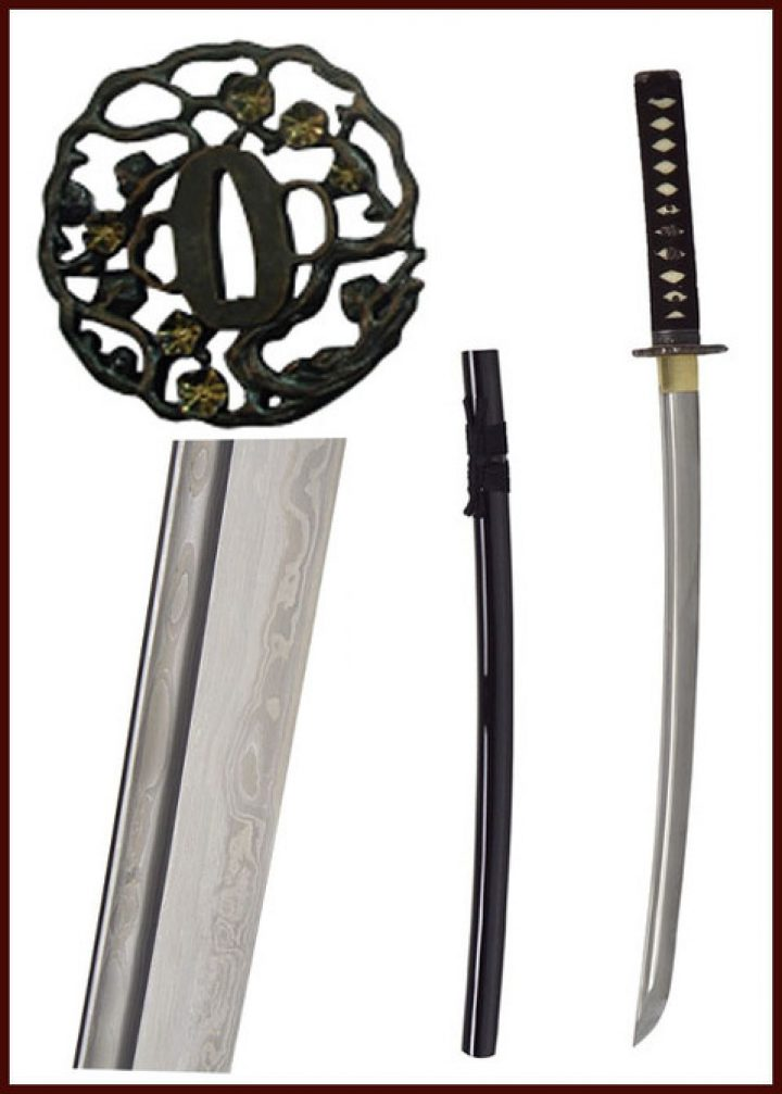 John Lee Golden Flower Wakizashi HSD-85712