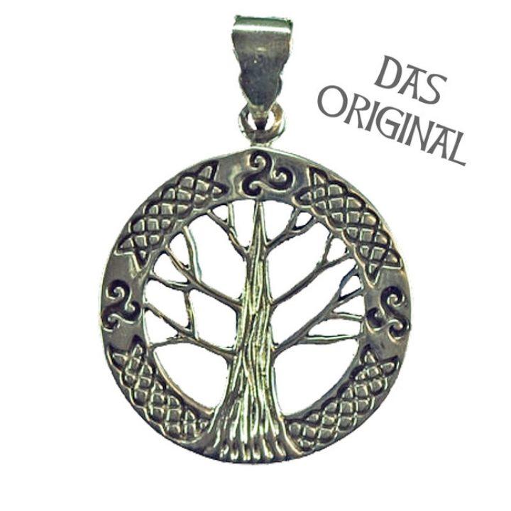 Keltische Levensboom - Yggdrasil Hanger zilver