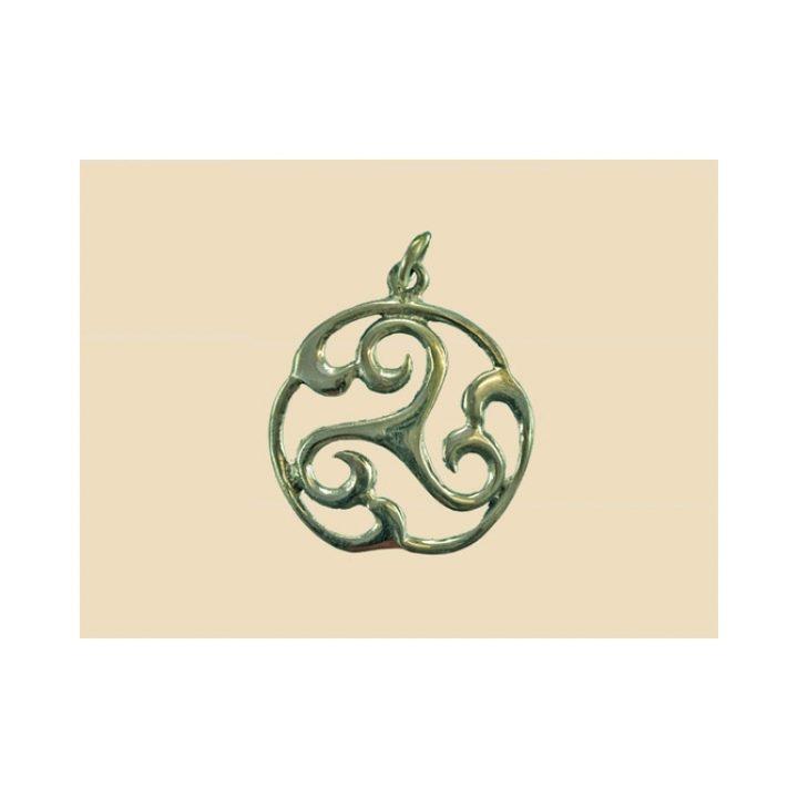Keltischer Triskele silber VCCP-16