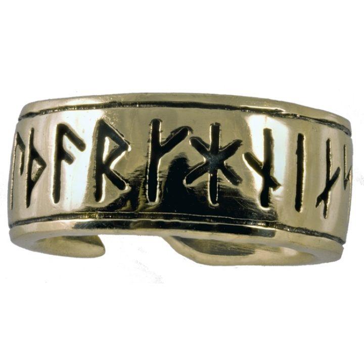 Wikinger Runen Ring Bronze Gross