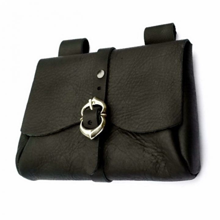 Middeleeuwse tas zwart