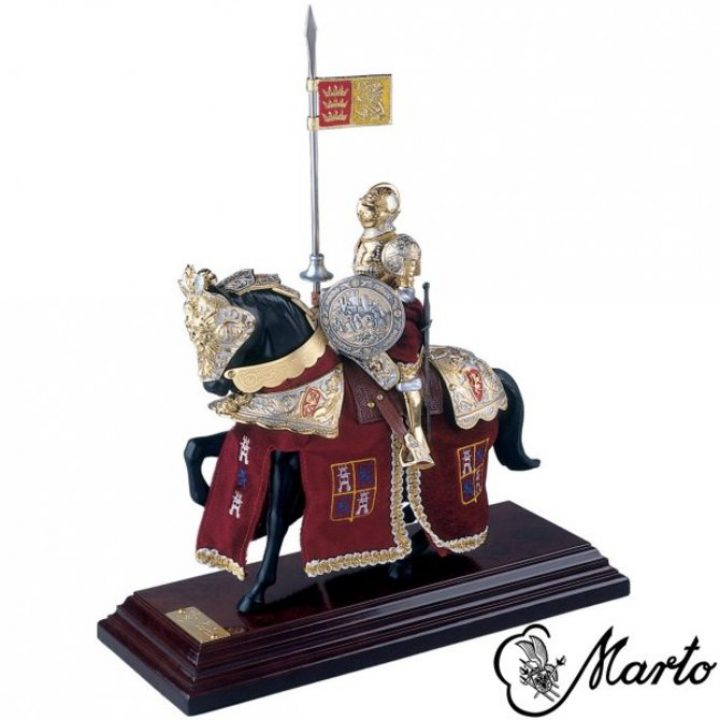 Mounted Knight Lancelot on Horse