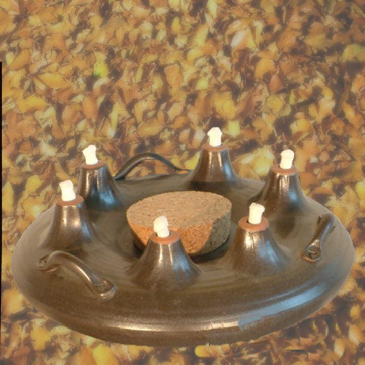 Olielamp met zes lonten Toledo 23 cm