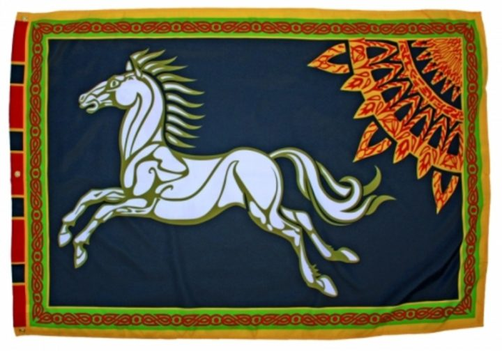 Lord of The Rings Rohan vlag zwart FP-3020 Black