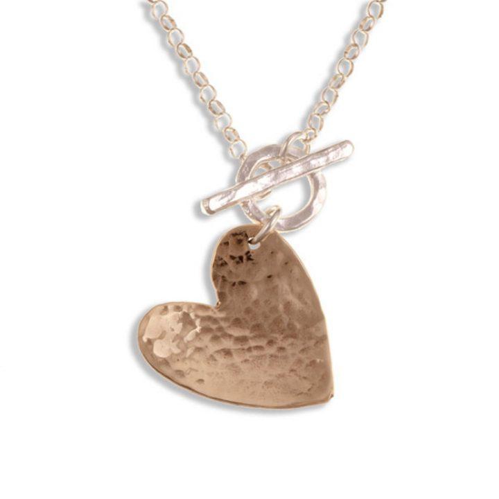 Hammered Heart hanger brons SJBZP-46