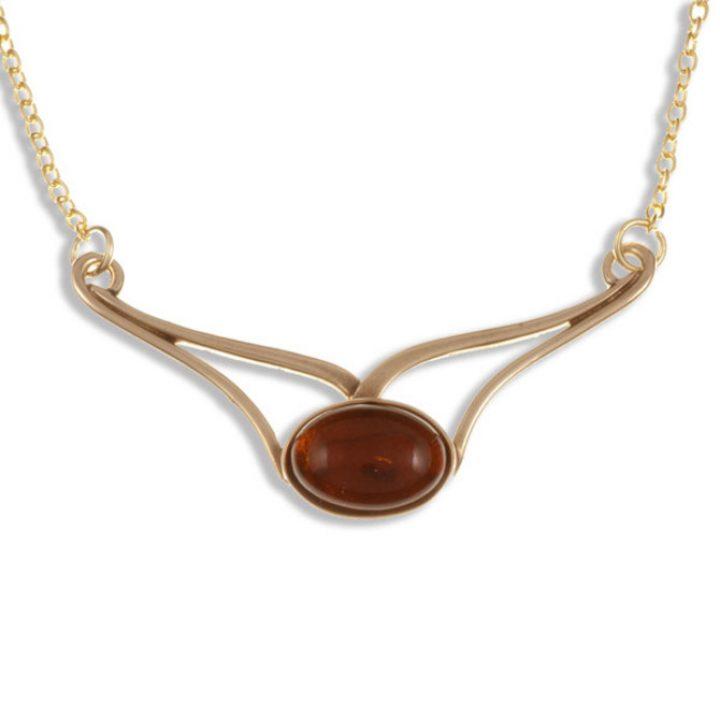 Amber curl hanger brons SJBZP-80