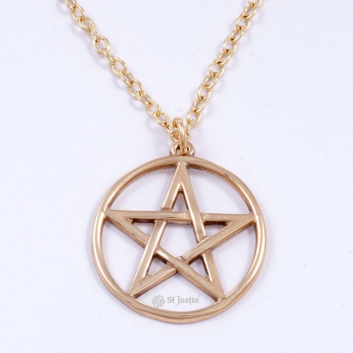 Pentagram Cirkel brons SJBZP-92