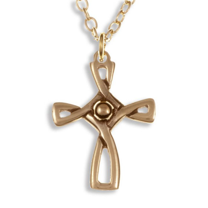 Loop cross hanger brons SJBZX-05