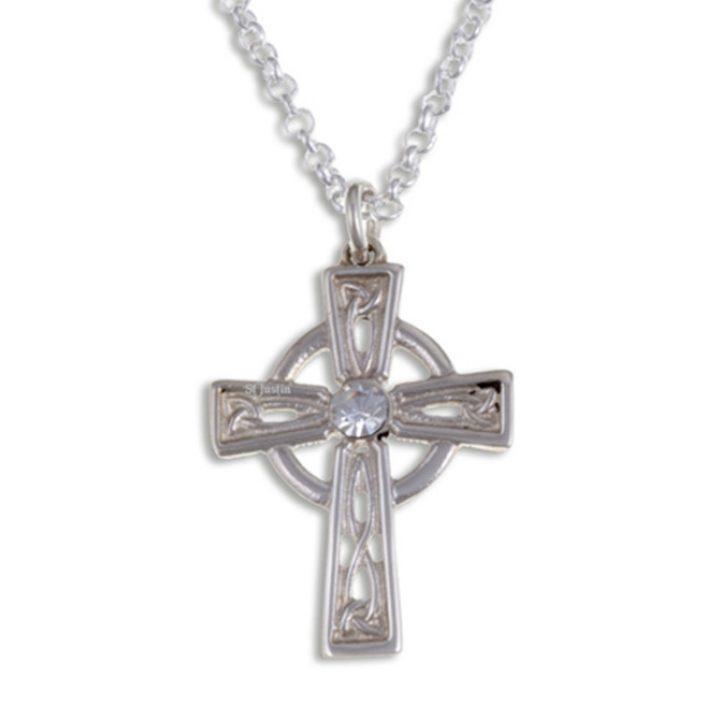 Crystal Celtic cross hanger SJJSX-06