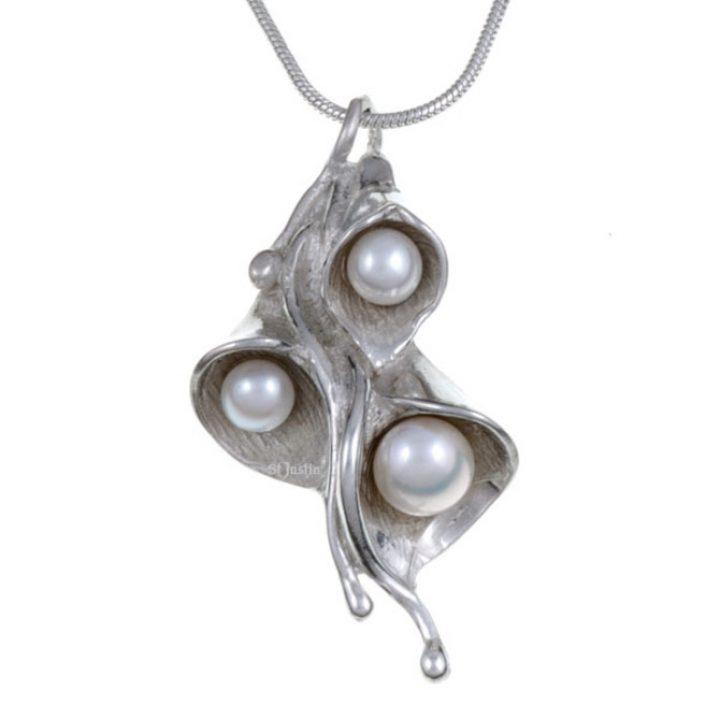 Triple Pearl Lily hanger SJPN-10