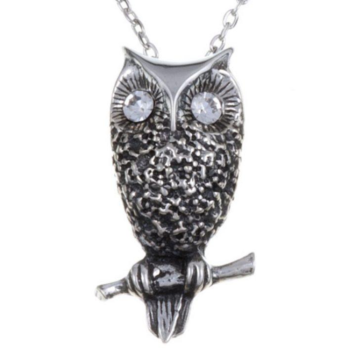 Owl hanger met crystal eyes SJPN-779CC