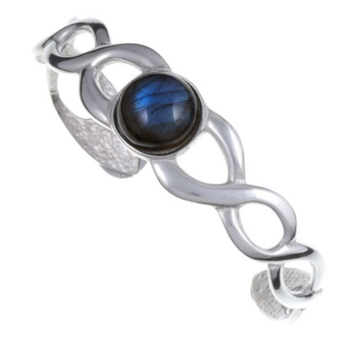 Labradorite Celtic Twist open Bangle SJ-TB105