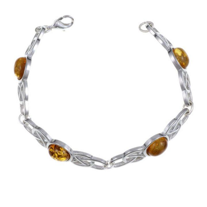 Oval Stone Bracelet, stone Amber SJ-TB52A