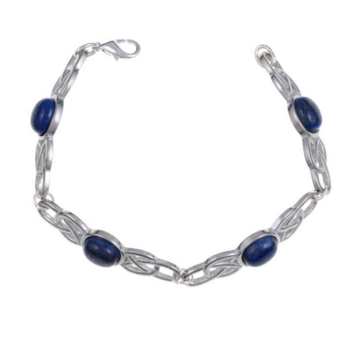 Oval Stone Bracelet, stone Lapis SJ-TB52L