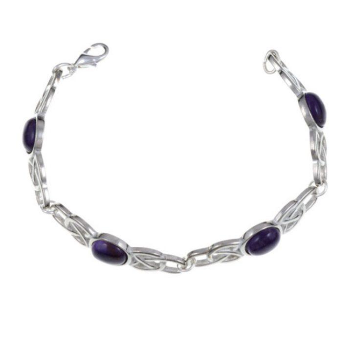 Oval Stone Bracelet, stone Amethyst SJ-TB52P