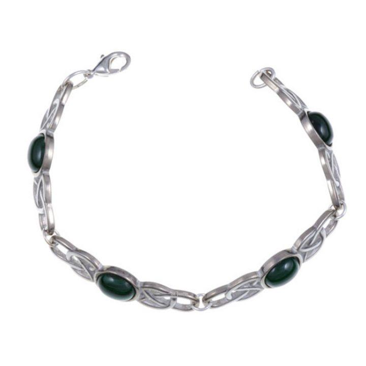 Oval Stone Bracelet, stone Malachite SJ-TB52M