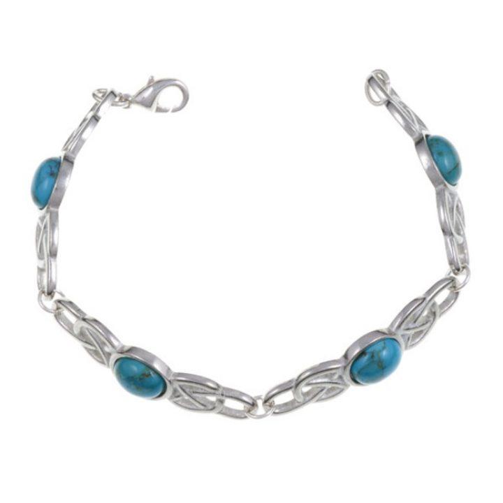 Oval Stone Bracelet, stone Turquoise SJ-TB52T