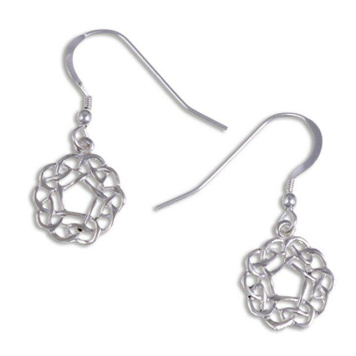 Pentagon knot earrings silver SJ-JSE03