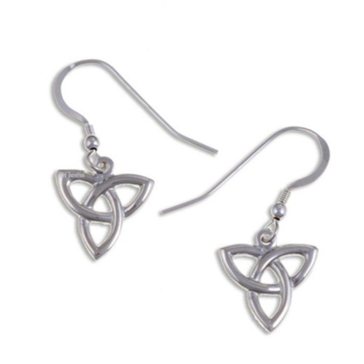 3 Loop love knot drop earrings silver SJ-JSE05