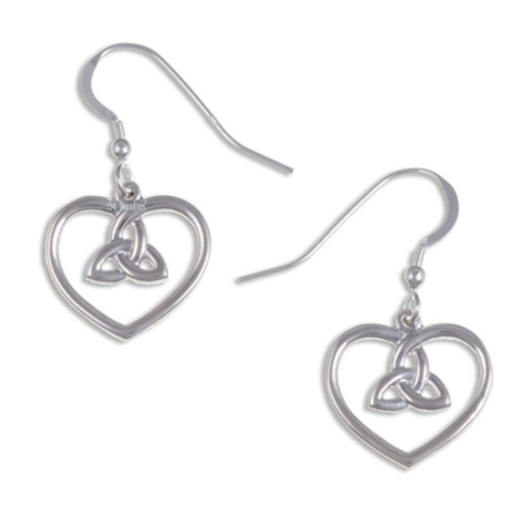 Heart earrings with 3 loop knot SJ-JSE12