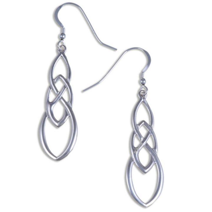 Linked knot earrings silver SJ-JSE19