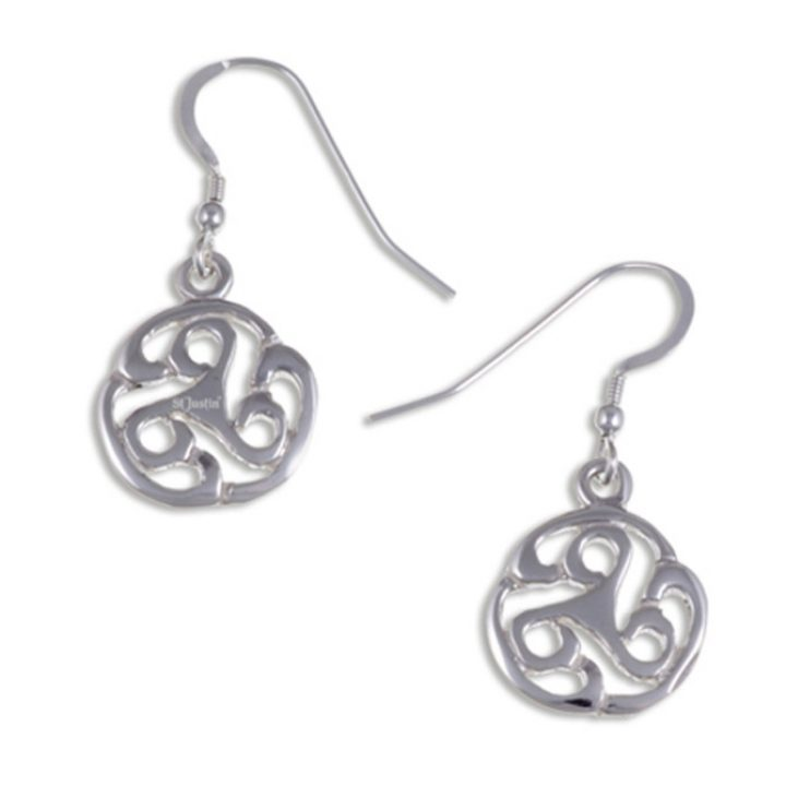 Apahida Triscele drop earrings silver SJ-JSE23