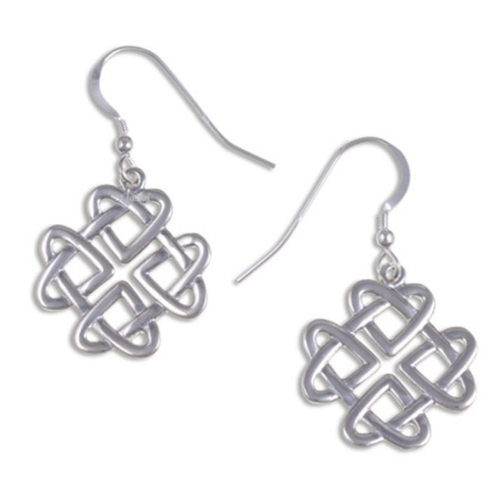 Celtic love knot drop earrings silver SJ-JSE29