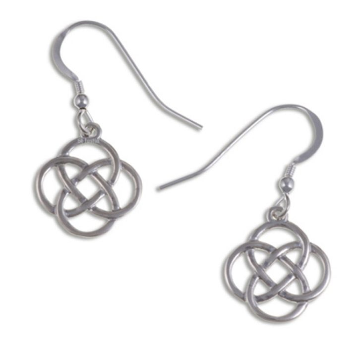 Four loop knot drop earrings silver SJ-JSE30