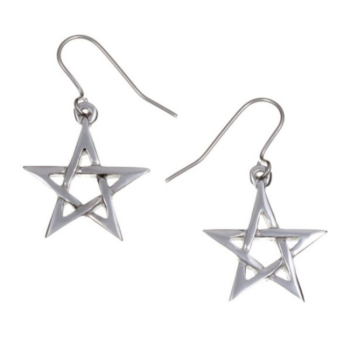 Pentagram earrings small SJ-PE14