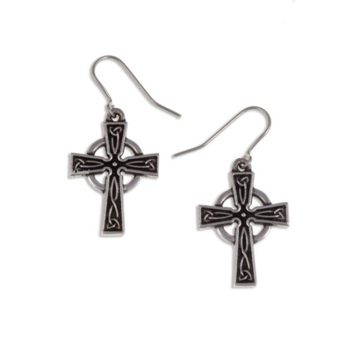Celtic cross earrings SJ-PE25