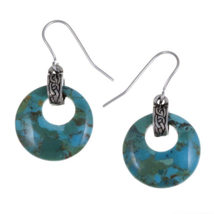 Turquoise gemstone circlet earrings SJ-PE59T