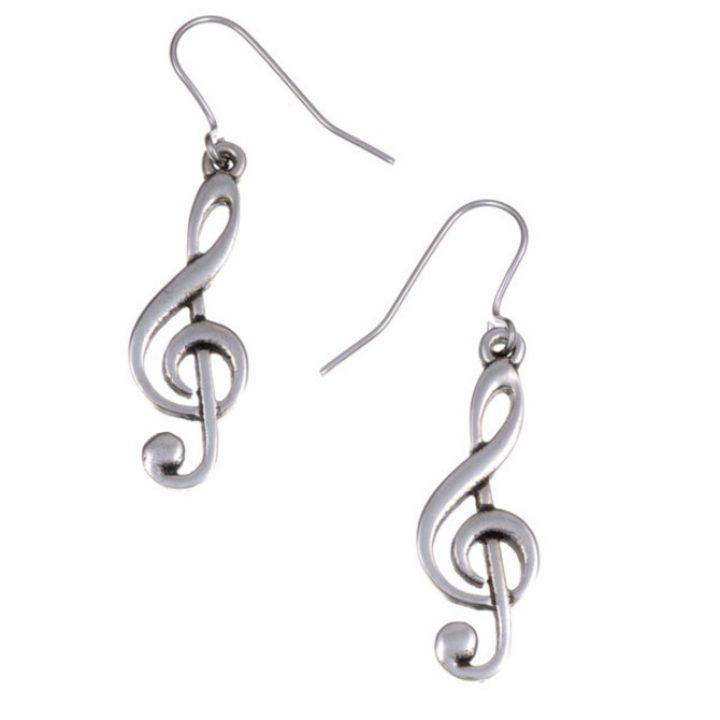 Treble clef drop earrings SJ-PE186