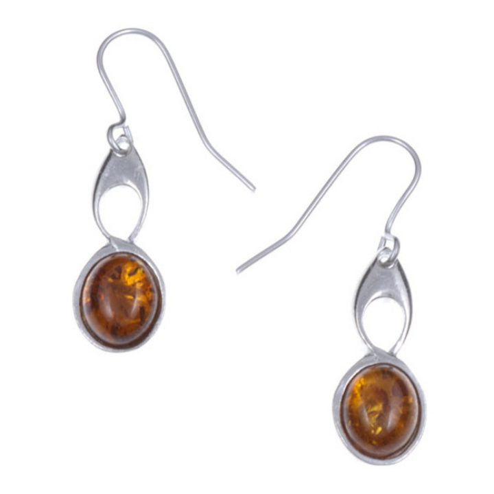Bird Knot earrings with Amber SJ-PE208A