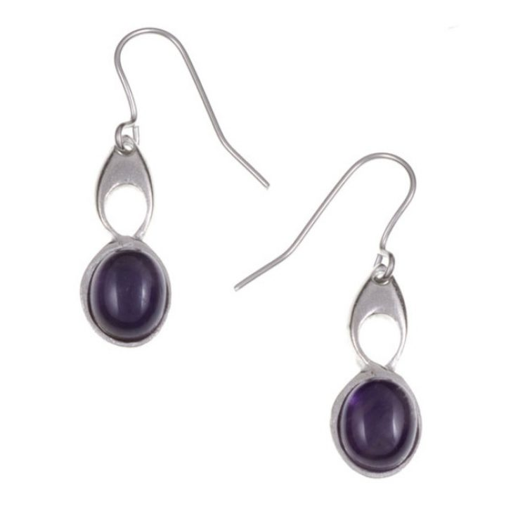 Bird Knot earrings with Amethyst SJ-PE208P