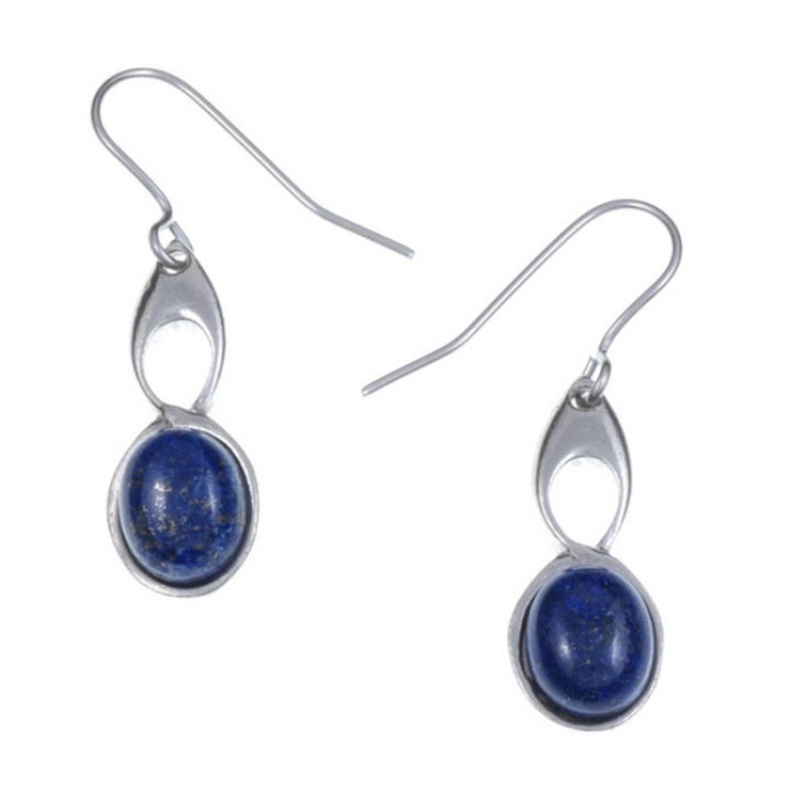 Bird Knot earrings with Lapis SJ-PE208L