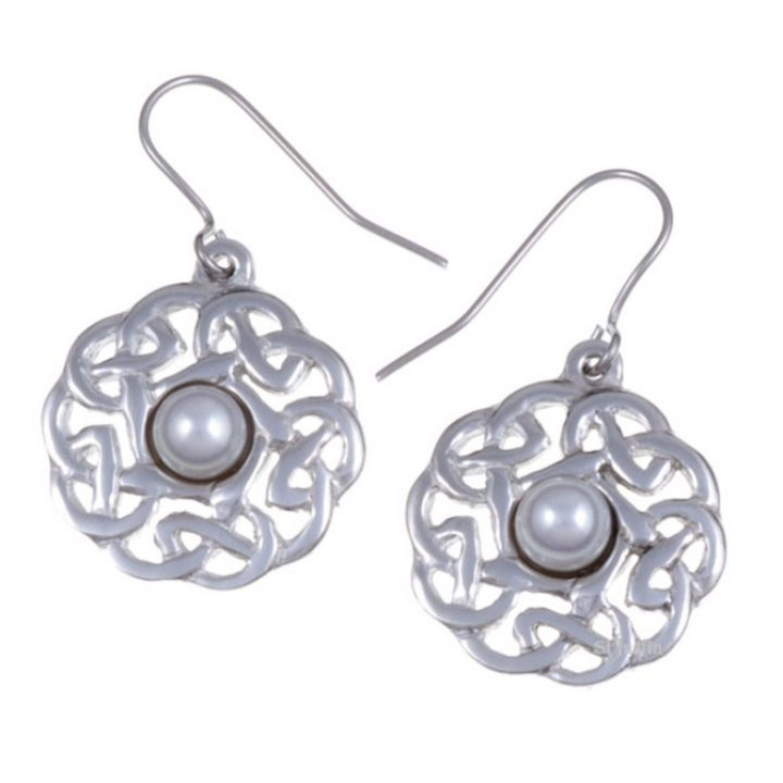 Pearl Pentagon knot earrings SJ-PE361