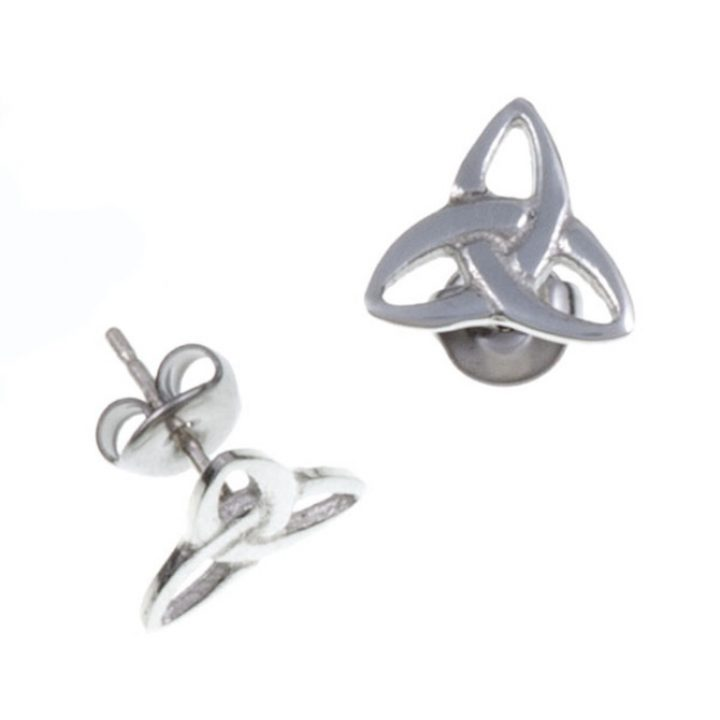 Trefoil knot stud earrings Medium SJ-PE592