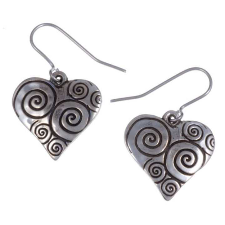 Swirls and Twirls heart drop earrings SJ-PE641