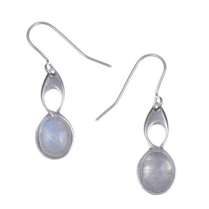 Bird Knot earrings with Moonstone SJ-PE208S