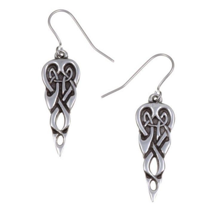 Merlin`s spear open knotwork drop earrings SJ-PE689