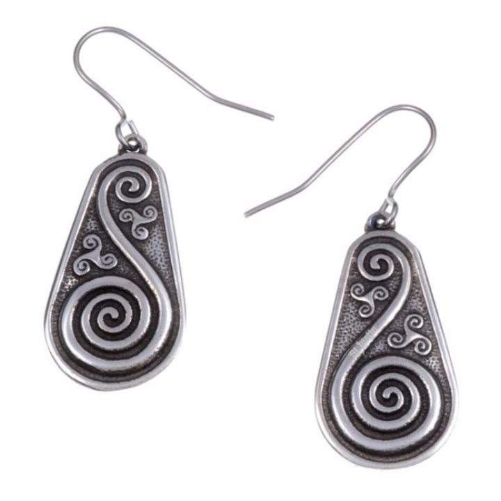 Double spiral shield drop earrings SJ-PE719