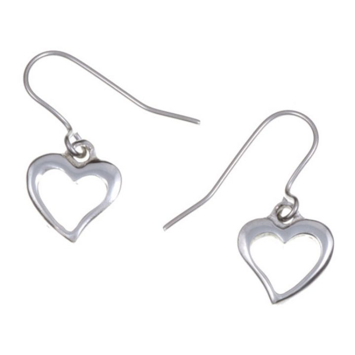 Open heart small drop earrings SJ-PE726