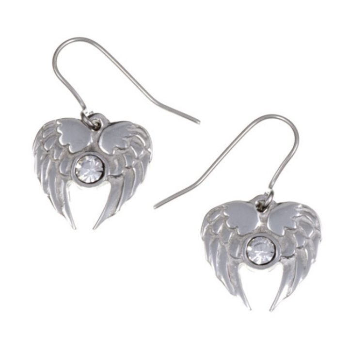Angel Heart drop earrings with Clear Crystal  SJ-PE736CC