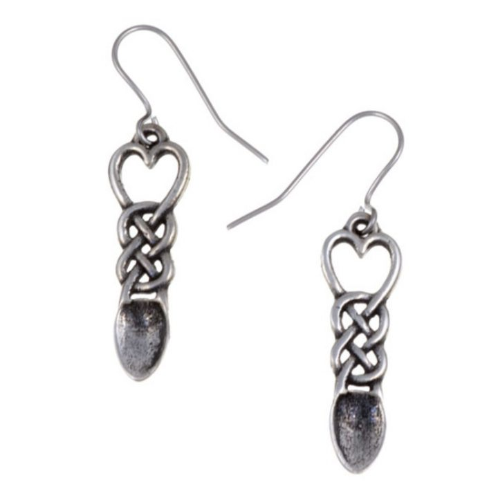 Love spoon drop earrings SJ-PE791