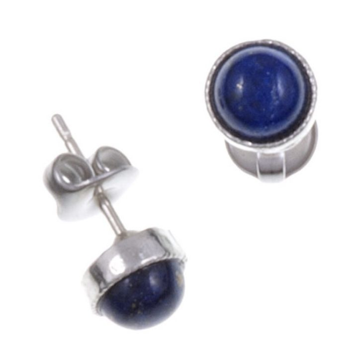 Gemstone stud earring with lapis SJ-PE796L