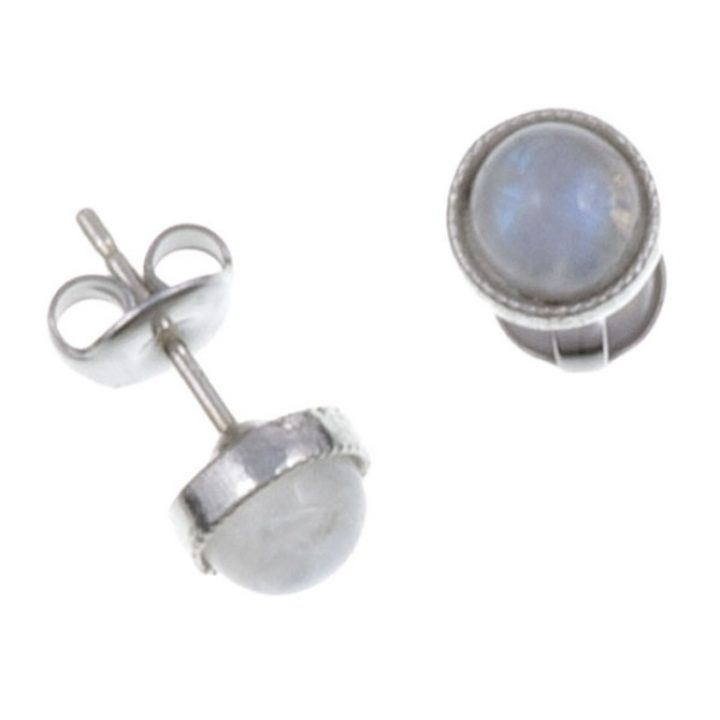 Gemstone stud earring with moonstone SJ-PE796S