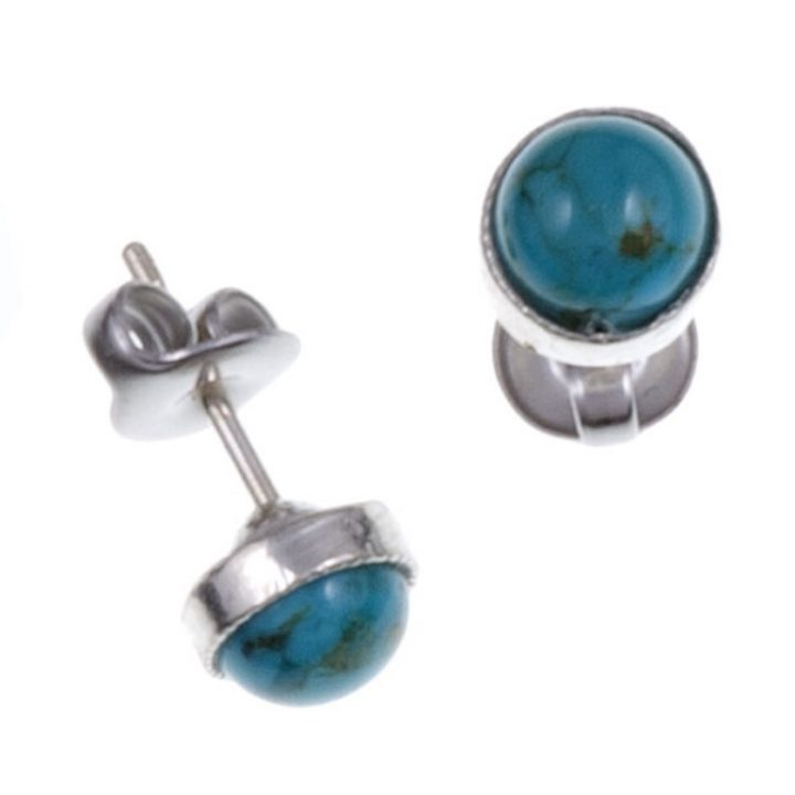 Gemstone stud earring with Turquoise SJ-PE796T
