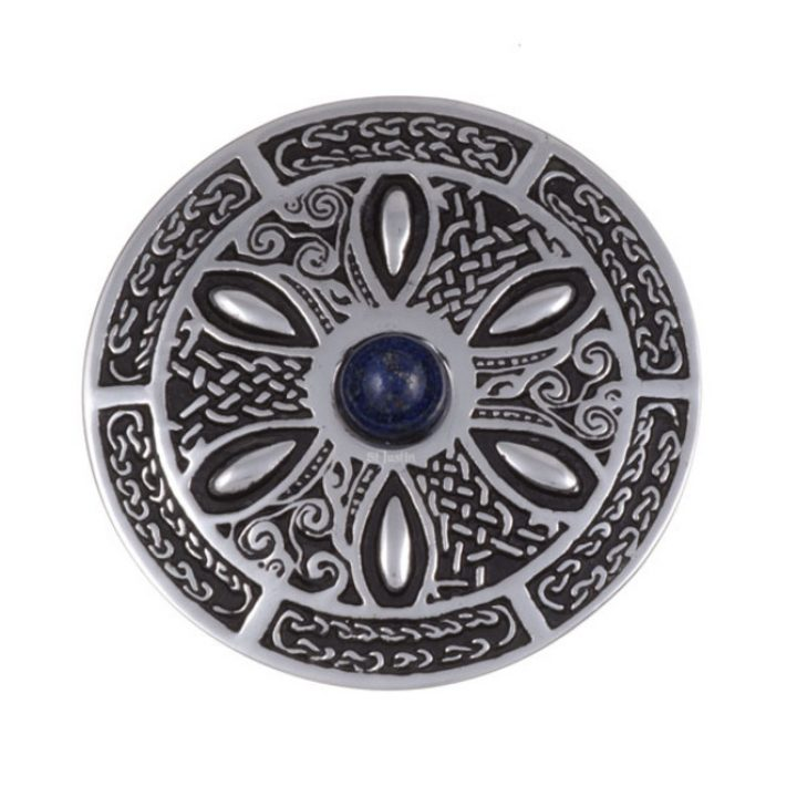 Celtic wheel brooch with lapis SJ-PB55L