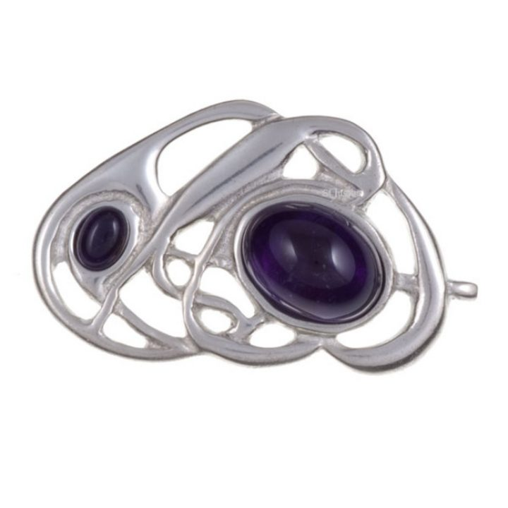 Celtic nouveau brooch with amethyst SJ-PB58P